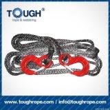 Fibra 100% resistente de Uhwmpe da corda da corda sintética cinzenta do guincho da cor 7mmx30m4X4