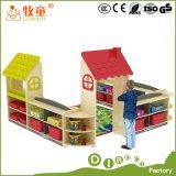 Mobilie di asilo, soluzione di disegno dell'aula verde di asilo di stile di paese, strumentazioni di asilo, sussidi didattici, giocattoli dei bambini