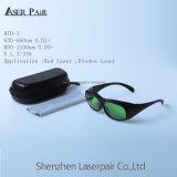 100% Qualitäts-Großhandelspreis-Hochleistungs--einfache populäre Lasersicherheits-Gläser/Eyewear/Schutzbrillen für roten Laser und Dioden-Laser