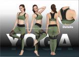 Tecido de cor com tingida verde fabricado por fábrica de fábrica para sutiã de esportes e calças de treino