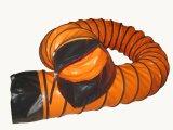 Conduit flexible en PVC avec manchon et boucle noire