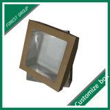 Boîte en papier en carton avec fenêtre claire