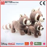 En71 de Levensechte Zachte Stuk speelgoed Gevulde Wasbeer van de Pluche van Dieren voor de Jonge geitjes van de Baby