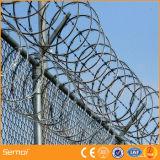 Колючая проволока бритвы лезвия тюрьмы с гальванизированной поверхностью