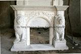 Mensola del camino di marmo bianca del camino