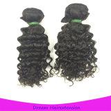 Курчавый малайзийский Weave волос оптовой продажи человеческих волос связывает волос Remy