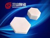 Plaque en céramique d'alumine hexagonal Bulletproof Diagonal 30*8mm