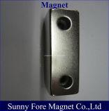 Block-Magnet mit Schrauben-Löchern