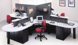 حديثة زاويّة مكتب مركز عمل مع لوح و [غلسّ برتيأيشن] ([سز-وس671])