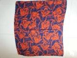 De rode Sjaal van de Polyester van het Af:drukken van de Bloem voor de Sjaals van de Voile van de Toebehoren van de Manier van Vrouwen