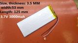 de Batterij van het Polymeer van het Lithium 3000mAh 3553125 voor e-Boek Videospelletje
