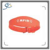 Logo personnalisé de l'impression Ntag NFC213 bracelet en silicone
