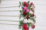 Silk künstliche rote Rosen-Blumen für Hochzeits-Ausgangsdekoration-Fälschungs-Blumen
