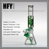 Hfy Glass Glass Smoking Pipes em estoque Illadelph Mini Freezable Bobina 7mm Beaker Hookah