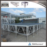 Étape en aluminium de hauteur ajustable en gros pour le matériel d'événement