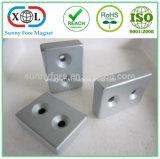 Angesenkter Block-Neodym-Magnet