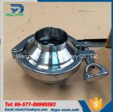 Dn100 válvula de verificação sanitária inoxidável da solda do aço SS304 SS316L