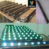 8PCS 12W RGBW 4in1 연주회 단계 DJ 장비 LED 이동하는 바 빛