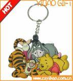 Animal Silicond/PVC Keychain de la insignia de Cutome para el regalo de la promoción