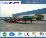 Cimc 3つの半車軸60tons頑丈なLowbedトレーラトラックシャーシ