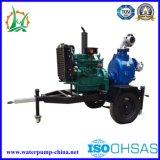 Fornitore di pompa ad acqua diesel autoadescante delle acque luride del rimorchio della Cina