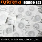 13.56MHz de la seguridad RFID pequeña NFC etiqueta de la etiqueta engomada Ntag215