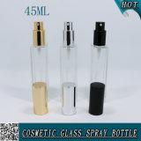 45ml en verre carré bouteille de parfum pour les cosmétiques