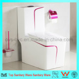 Salle de bain Ceramic Rose Red Color One-Piece Toilet