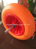 Tgum 색깔 편평한 자유로운 PU 거품 트롤리 바퀴