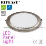 2017 новый продукт Electroplated алюминий серого 12 Вт Светодиодные лампы панели
