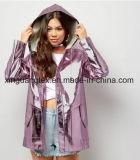 비옷/의복/우산/단화/부대를 위한 폴리에스테에 의하여 뜨개질을 하는 직물