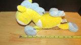 Brinquedos enchidos de Lovey do cavalo branco luxuoso azul amarelo