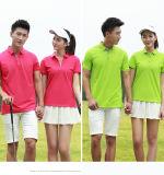 Polo-Hemden des 95% der Baumwolle5% kundenspezifische Spandex-180GSM, Polo-T-Shirt, Polo-Hemd (Soem)