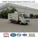 euro 4 van de Vrachtwagen van de Straatveger van 5cbm Compacte Dongfeng Gezogen