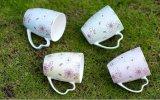 De in het groot Kop van de Thee van de Koffie van het Ontwerp van de Bloem Ceramische met Deksel