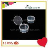 Vacie el envase plástico transparente del sello hermético transparente con la tapa de la tapa