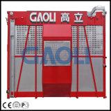 Sc320/320構築の起重機、二重ケージの構築のエレベーター、3.2t構築の揚げべら