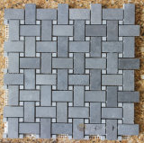 중국 회색 현무암 돌 모자이크 패턴