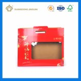 Складывая напечатанная коробка гофрированной бумага E-Каннелюры с окном (для продуктов здравоохранения)