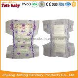 Tecido adulto descartável macio impresso do bebê da fralda do bebê da absorvência 2016 cor elevada