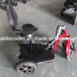 3つの車輪のバスケットが付いている電気移動性のスクーターを折っている大人500W