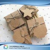 Het leuke Vakje van de Gift van de Juwelen van het Document van Kraftpapier Verpakkende met Toebehoren (xc-pbn-025b)
