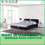 Disegno moderno della base del cuoio del doppio della mobilia della camera da letto