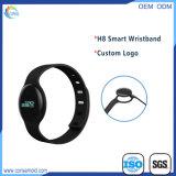 Wristband elegante de Bluetooth del perseguidor de la aptitud con la insignia impresa