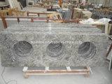中国の大君主の花の灰色の大理石の平板