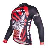 Красные полоски Zebra спортивных вершин мужчин дышащий велосипедного Джерси