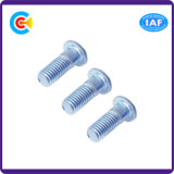 Tecla galvanizada Steel/4.8/8.8/10.9 do hexágono de Rod da extensão do carbono/parafuso principal redondo