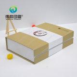 Caixa de papel para produtos de cuidado de pele cosméticos, carimbo da impressão de ouro quente e gravado