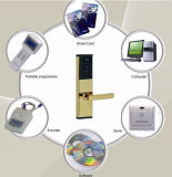Sistema do fechamento de porta do leitor de cartão de RFID para o hotel da estrela