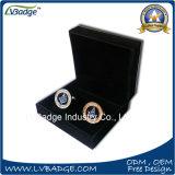 Gemelli del metallo della clip di legame del metallo di alta qualità in contenitore di velluto